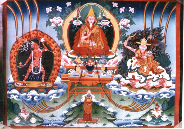 H. H. Zong   Rinpoche,Vajrayogini and Dorje Shugden